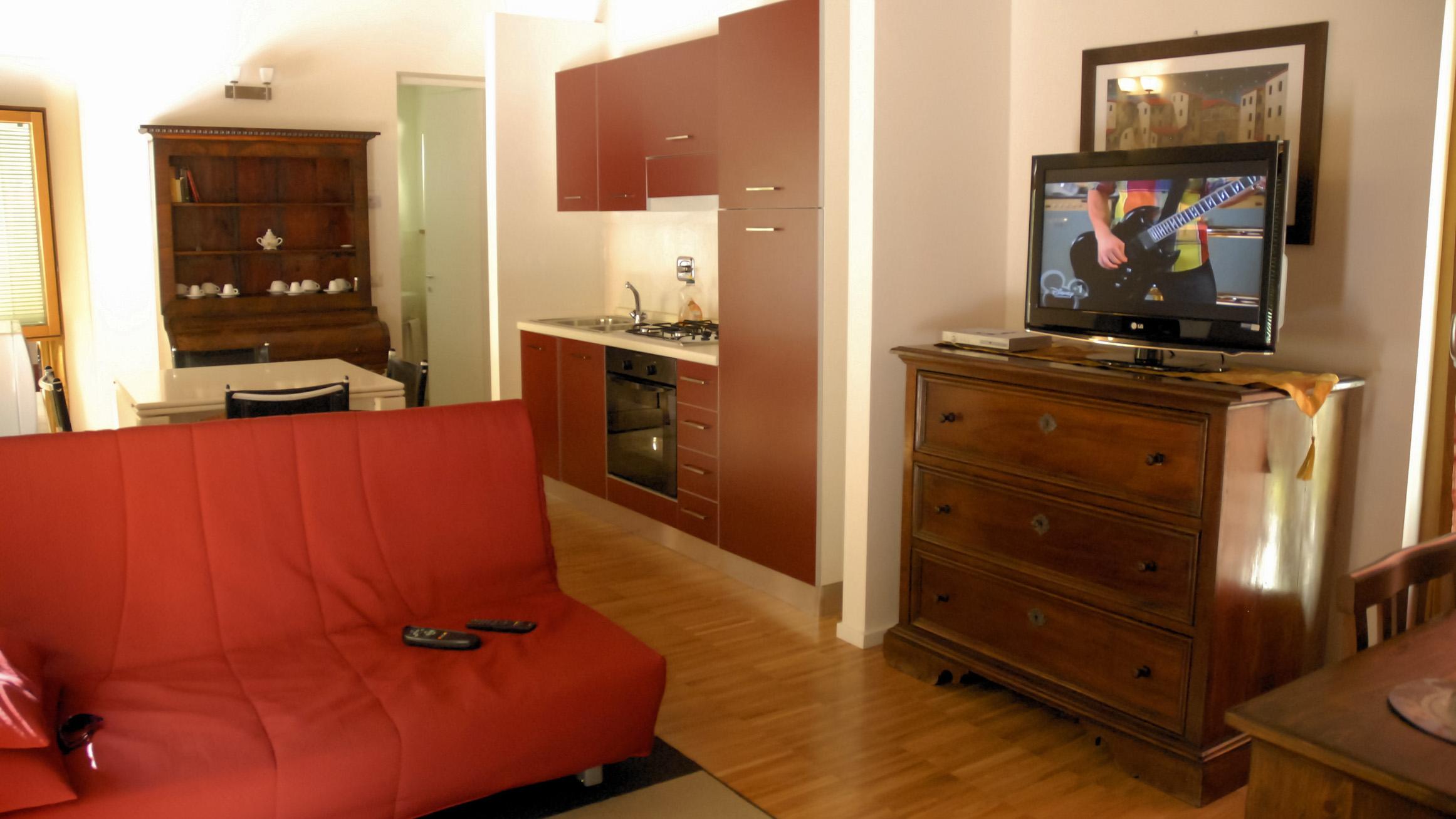 Agriturismo Molino Sette Camini - Vista salotto appartamento