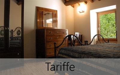 Agriturismo Molino Sette Camini - Le tariffe